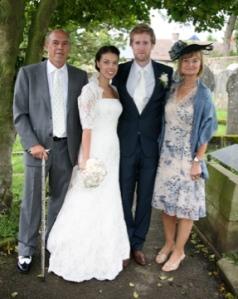 Hannah and James wedding, 12 July 2008. With F.O.B. and M.O.B