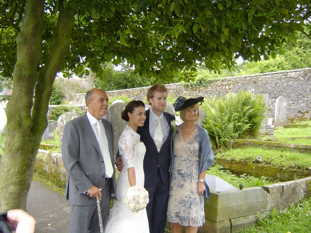 with Hannah's parents